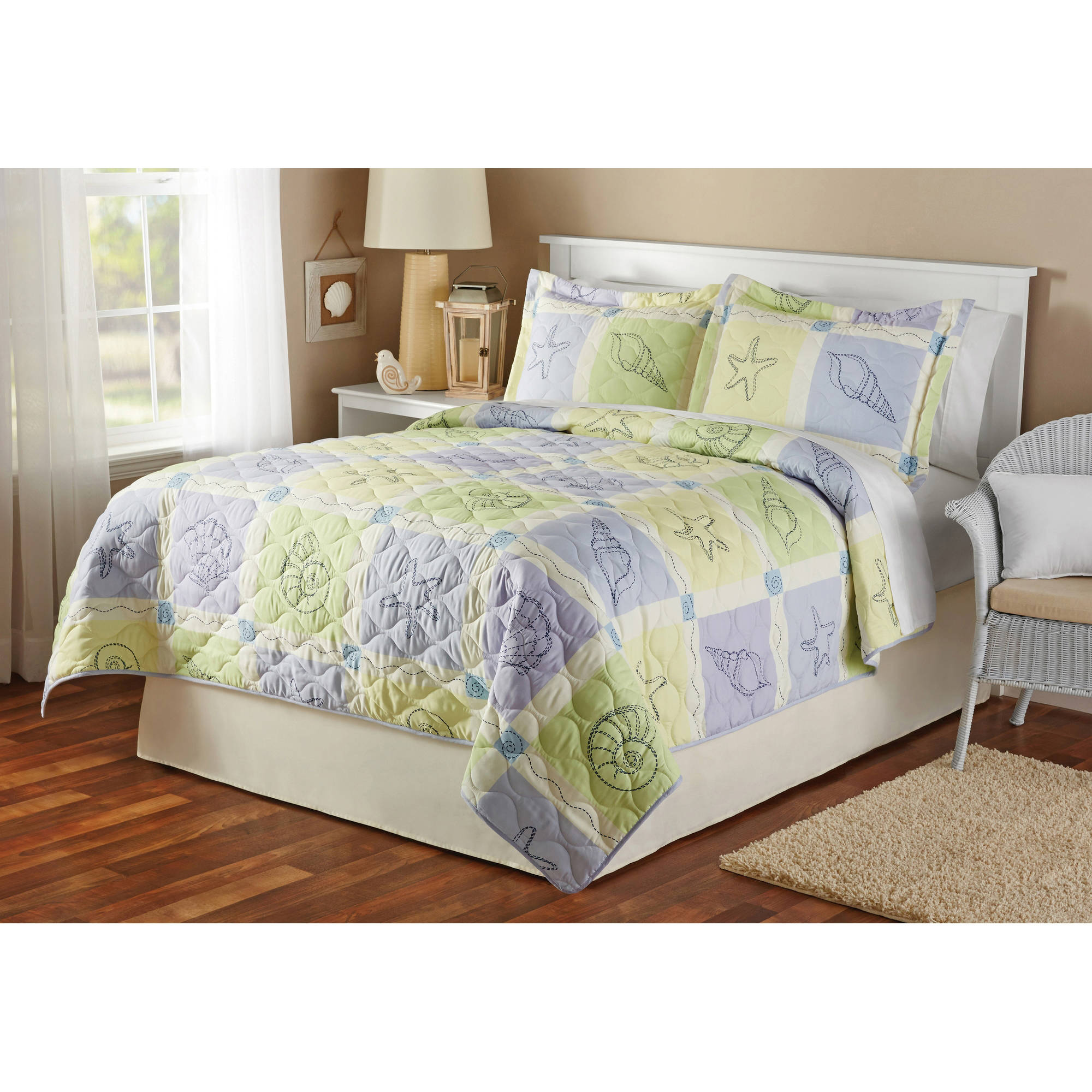 Mainstays Sea Breeze Quilt Sham Twin Full Queen King Size