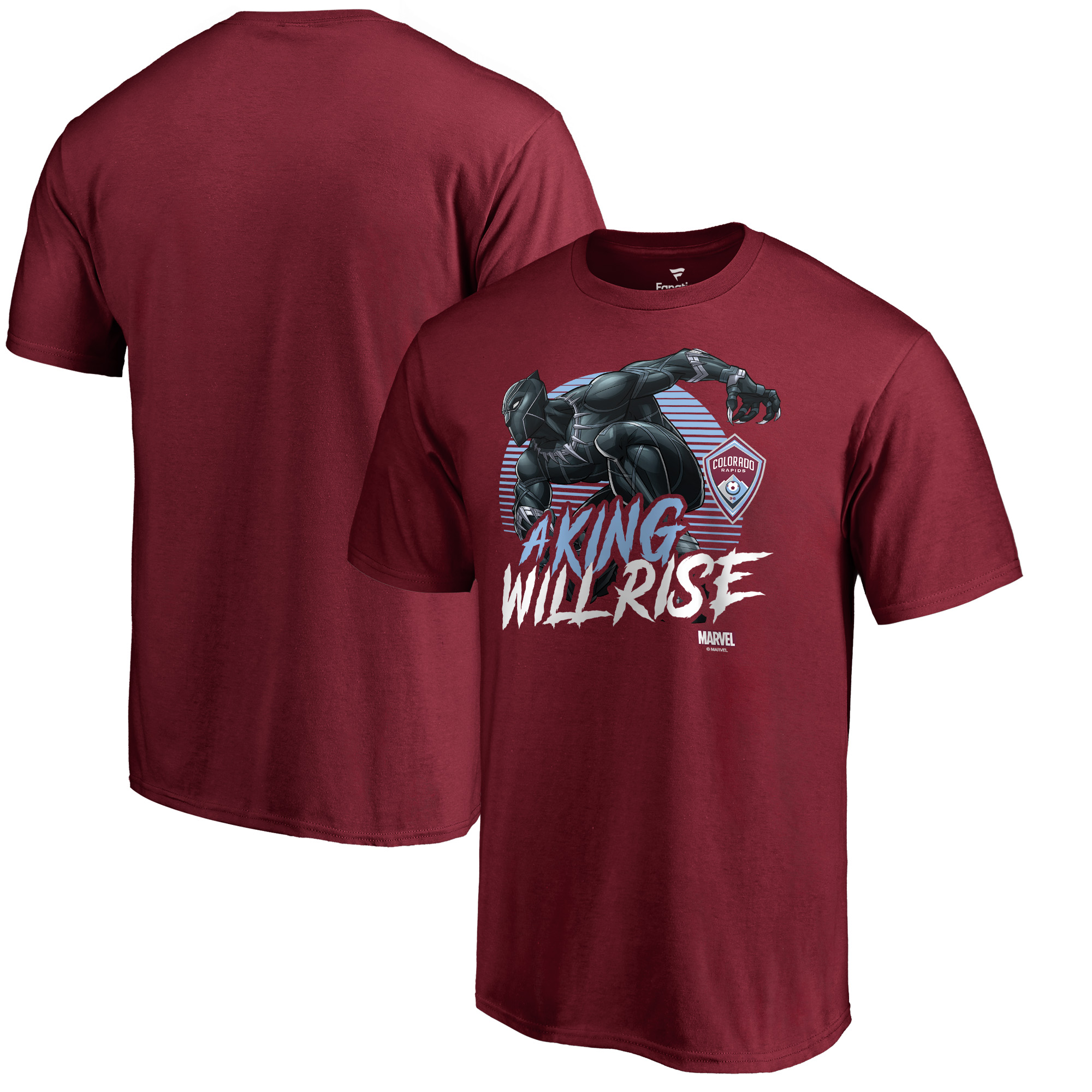 Colorado Rapids Fanatics Branded Marvel Wakanda Forever T-Shirt - Burgundy