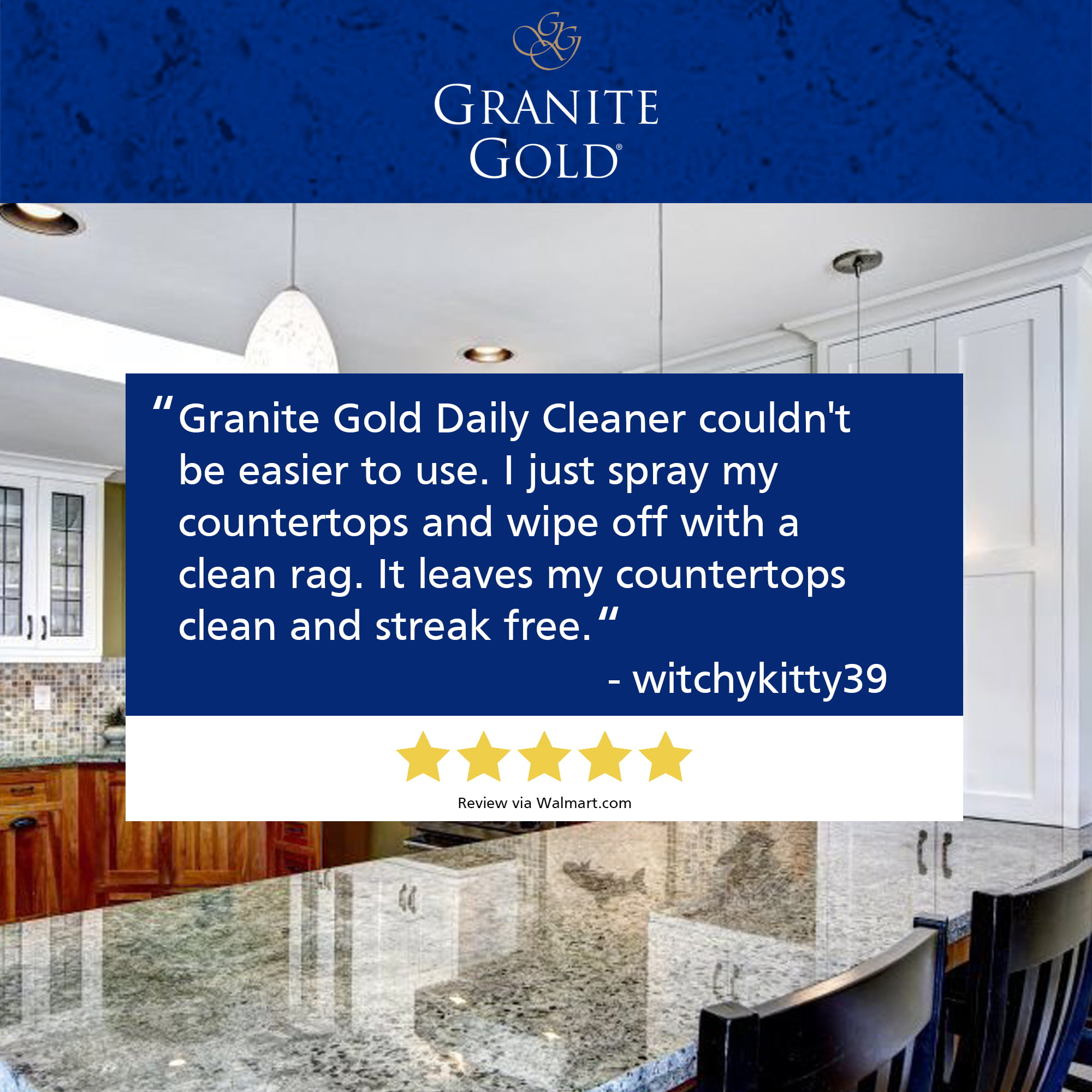 Granite Gold Daily Cleaner 24 Fl Oz Streak Free Granite Quartz And More Walmart Com Walmart Com