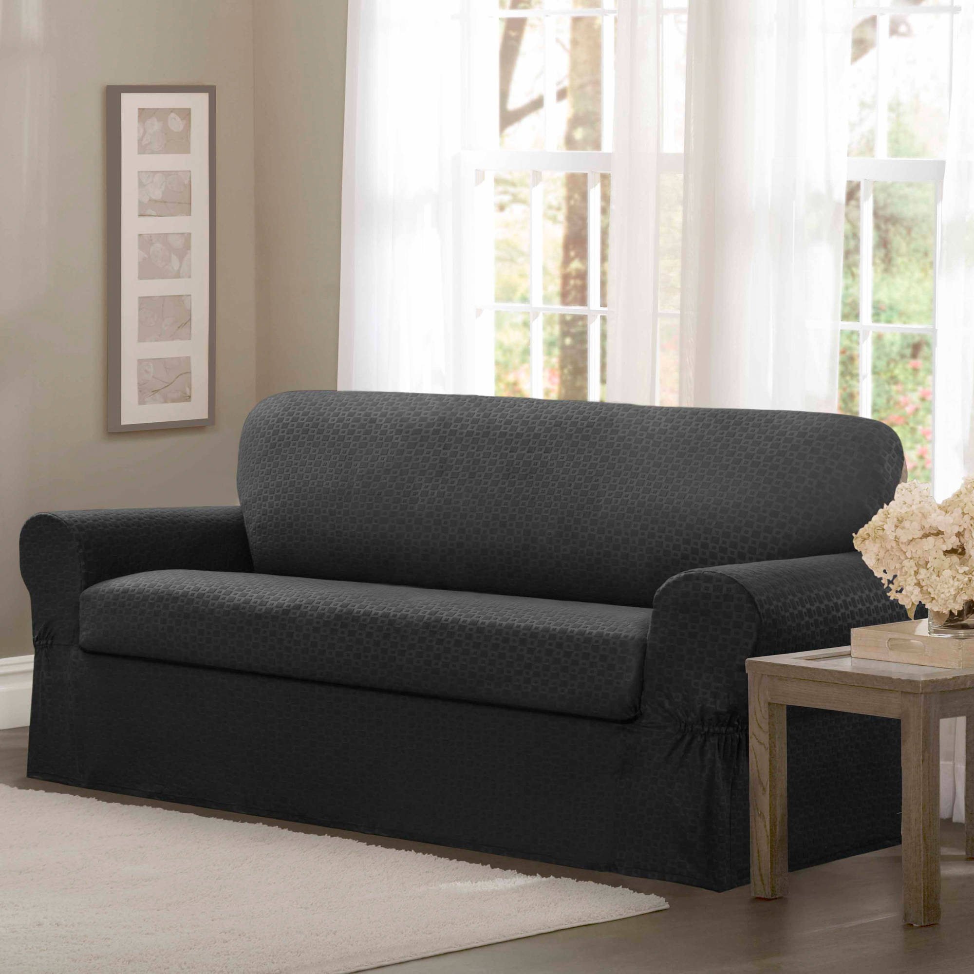Maytex Conrad Stretch 2 Piece Furniture Slipcover Walmart