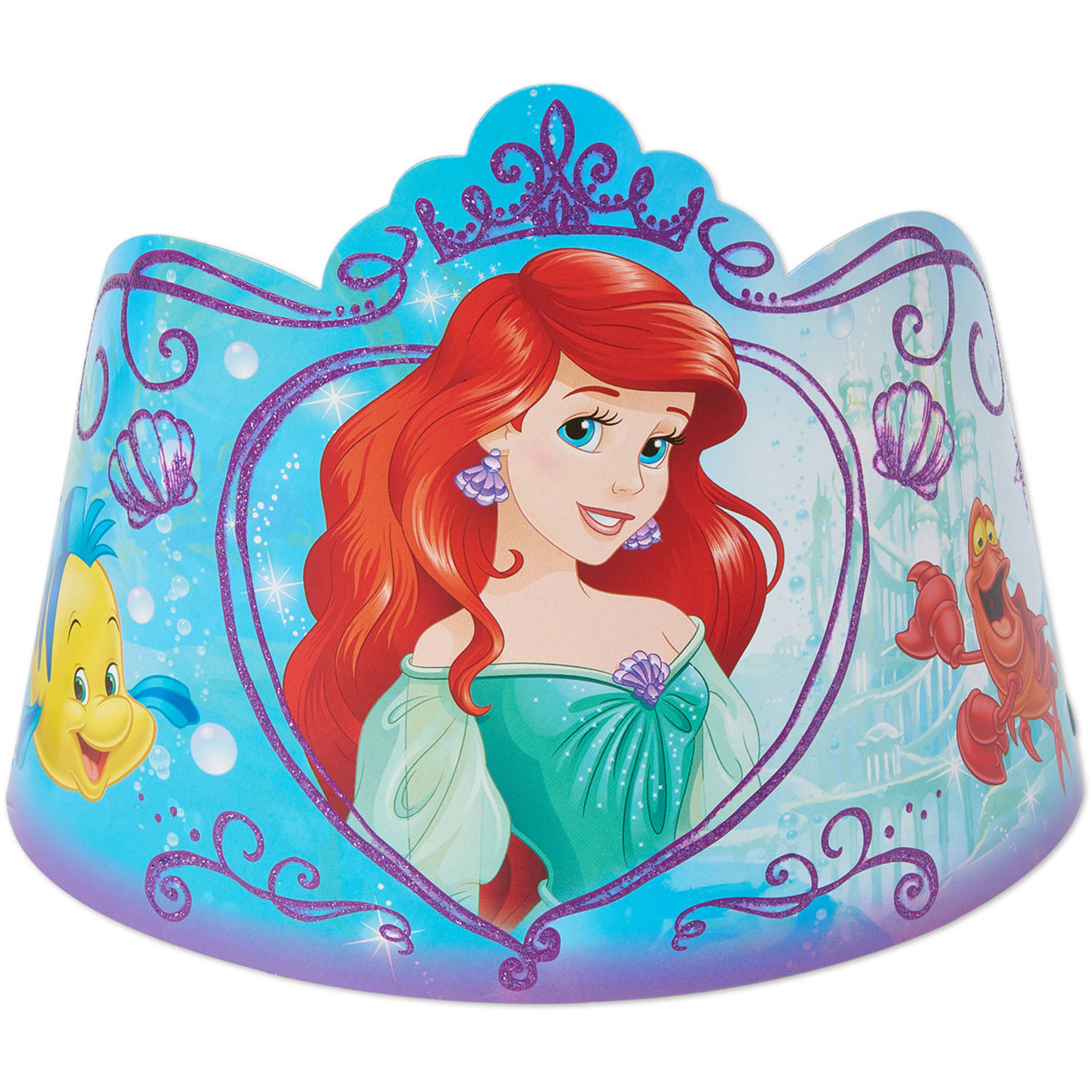 Disney The Little Mermaid Party Tiaras, 8ct