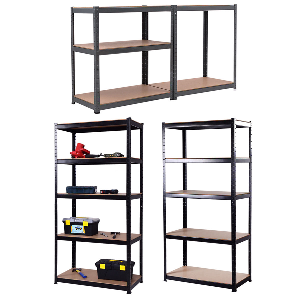 "Gymax 72""x36"" Heavy Duty 5 Level Garage Shelf Storage Adjustable Weight Up to 2750Lbs"