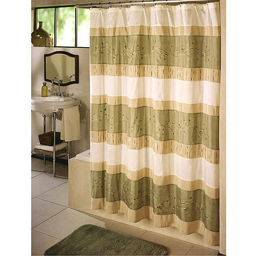 Ex-Cell Home Fashions Wasabi Fabric Shower Curtain by Generic