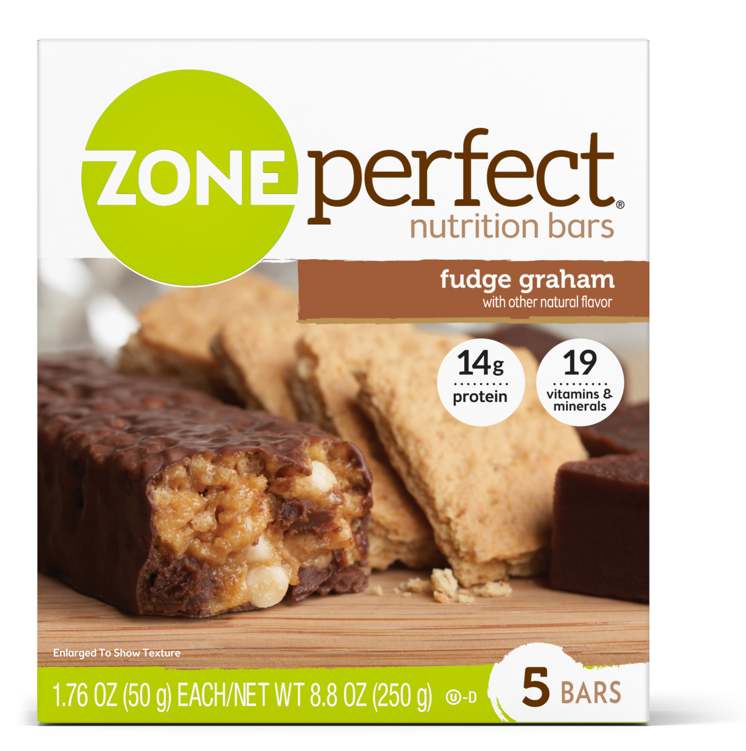 ZonePerfect Nutrition Bar, Fudge Graham, 14g Protein, 5 Ct