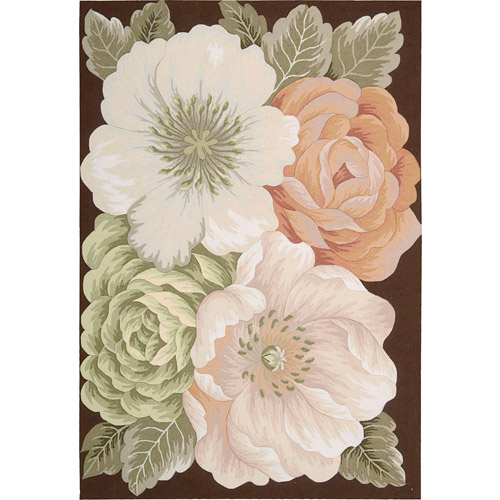 Nourison Floral Images Fantasy Bouquet Rug, Multi Color