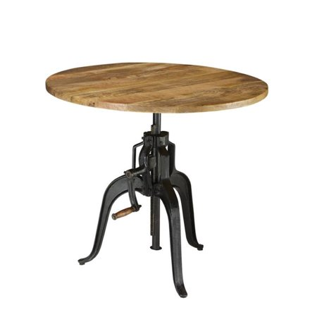 - Coaster Galway Round Adjustable Dining Table in Natural