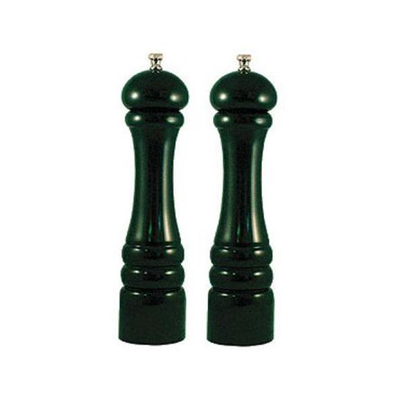Chef Specialties 10802 10 in. Forest Green Mill and Salt Mill Set