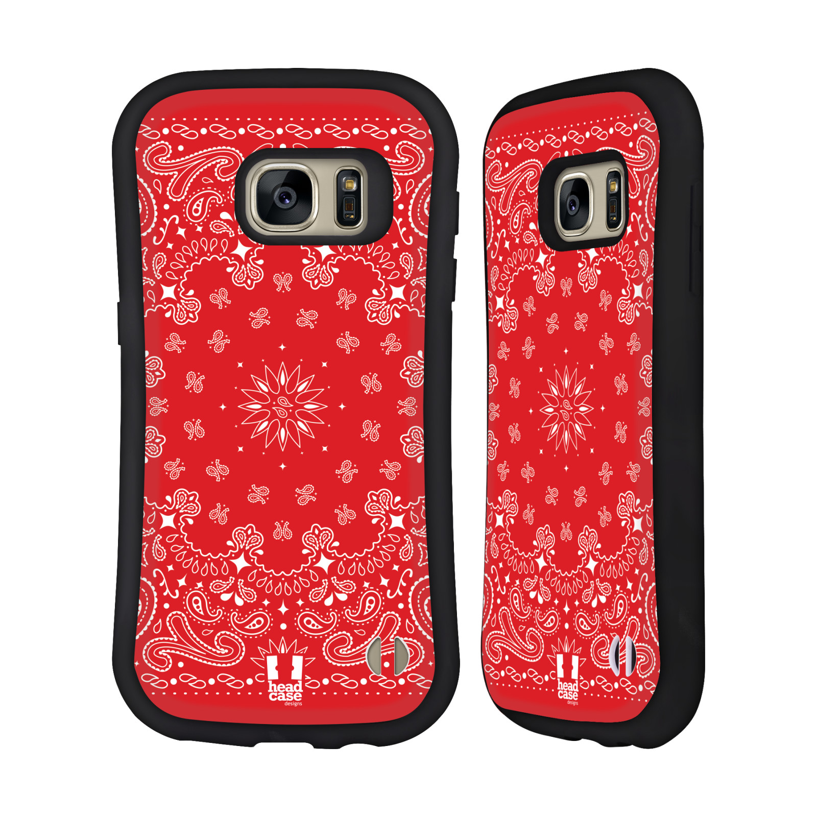 HEAD CASE DESIGNS CLASSIC PAISLEY BANDANA HYBRID CASE FOR SAMSUNG PHONES
