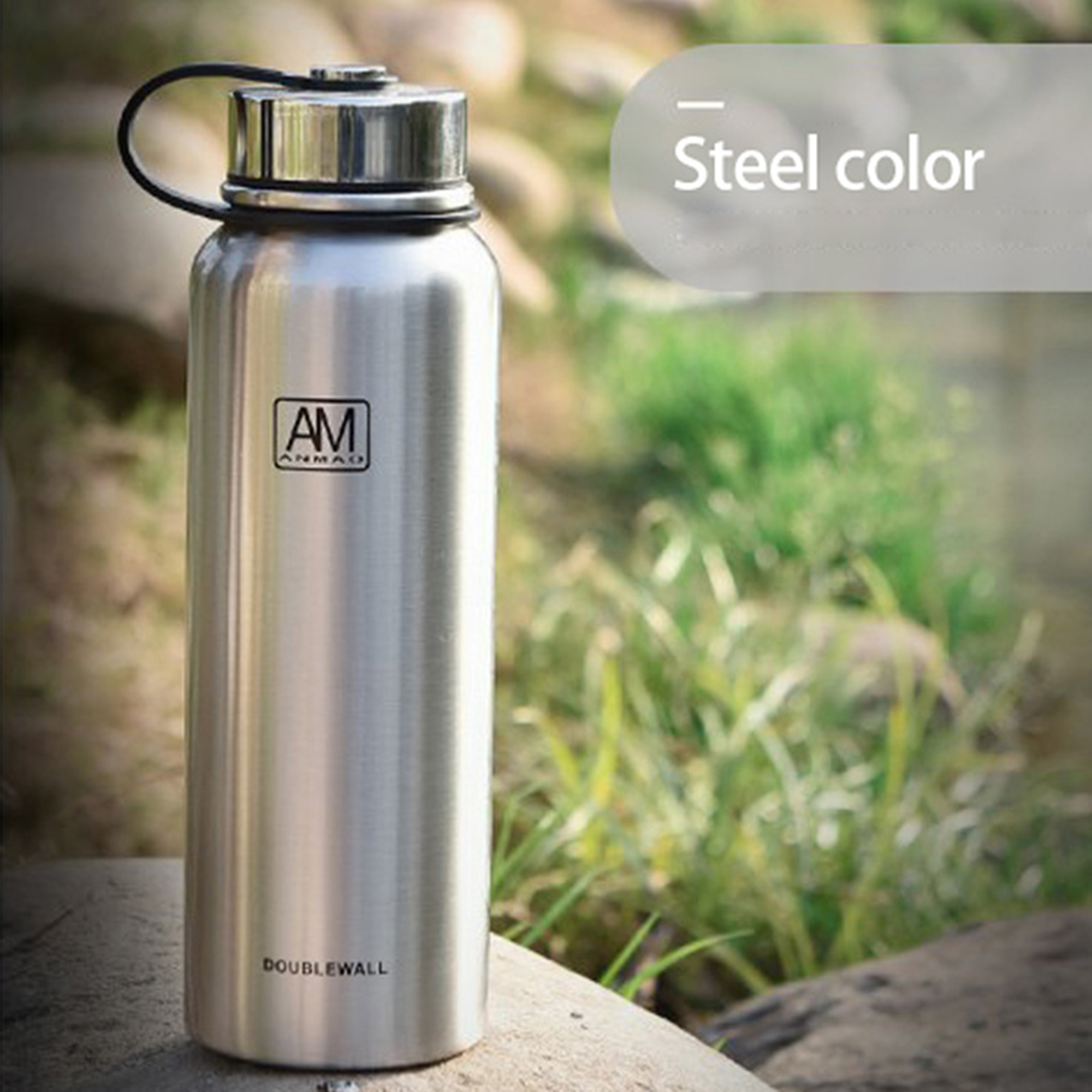 Leak-proof Stainless Steel Water Insulated Sports Gym Travel Mug Bottle Vacuum