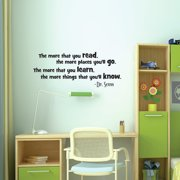 Belvedere Designs LLC Read Dr. Seuss Wall Quotes  Decal