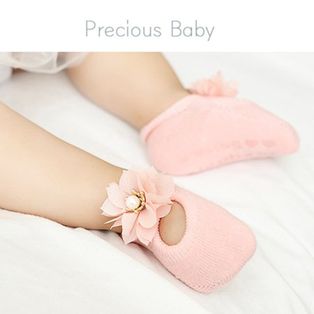 Baby-Girls Bow Tie Lace Socks Newborn/Infant/Toddler/Little Girls Socks - image 1 de 8