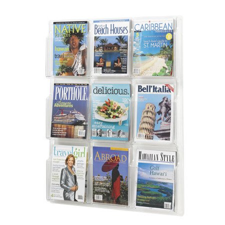 Safco Reveal Clear Literature Displays Compartments High Products