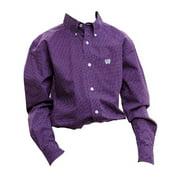 Western Shirt Boys Kid Long Sleeve Button Logo Purple MTW7060132