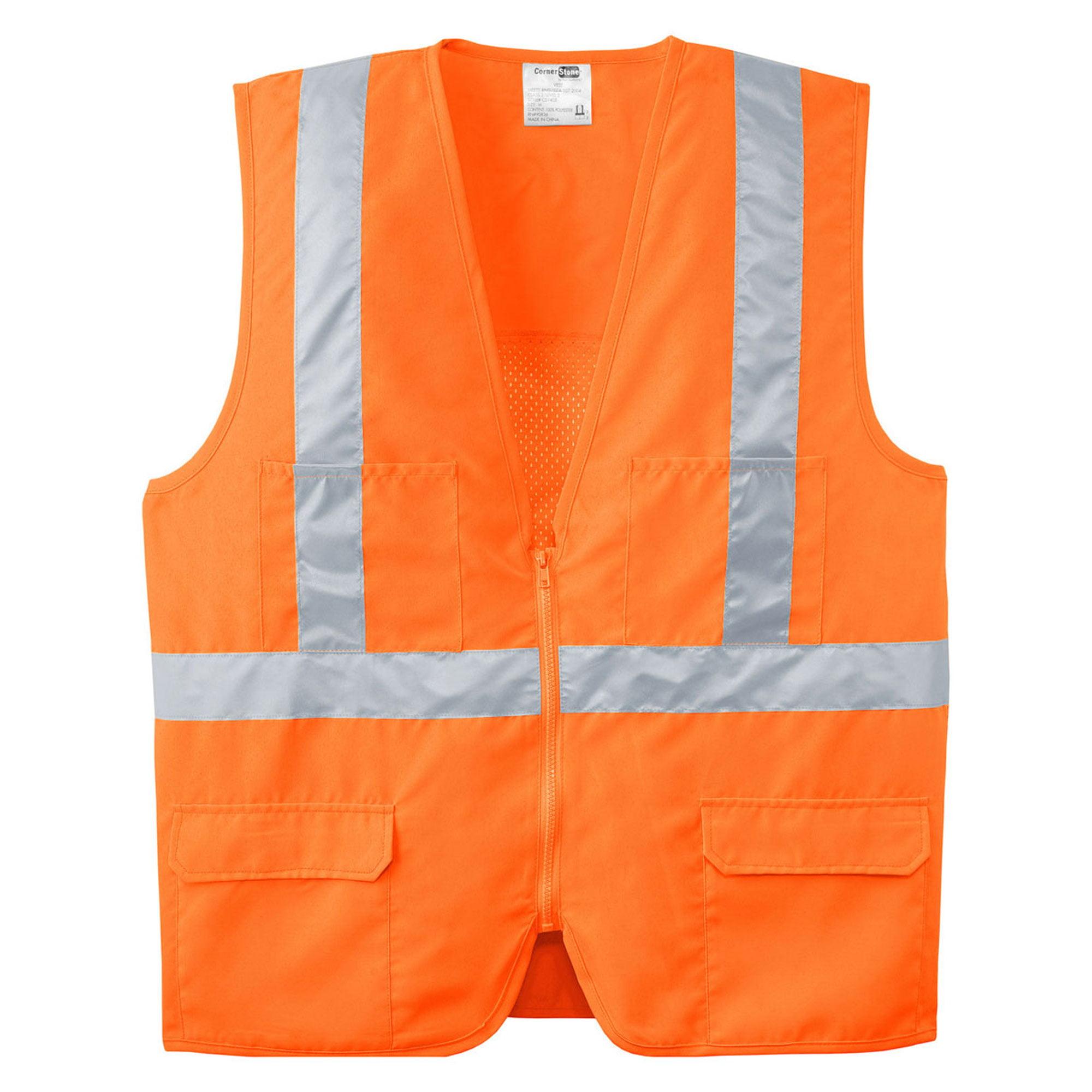 Cornerstone Men's Breathable Mesh Back Safety Vest