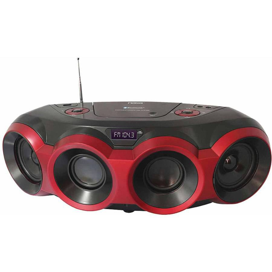 Naxa NPB-266 MP3/CD Party Bluetooth Boombox