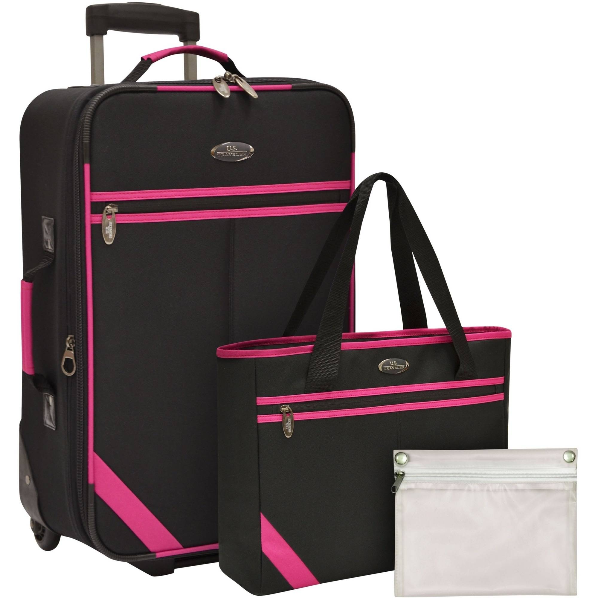 U.S. Traveler Fashion 3-Piece Luggage Set