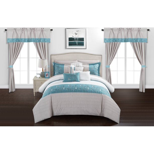 Chic Home Sonjae 20 Piece Bed In A Bag Comforter Set Walmart Com Walmart Com