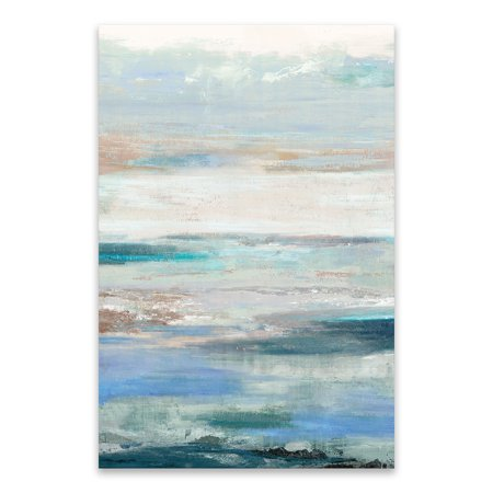 Artist: Tom Reeves Waves Gallery Wrapped Hand Embellished Printed Canvas 24W x 36H x 1.25D