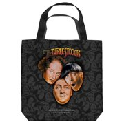 The Three Stooges Stooges All Over Tote Bag White 9X9
