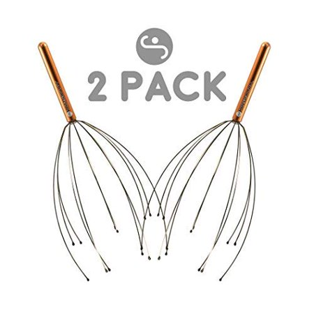 Scalp Massager by Body Back Company – Handheld Head Massage Tingler, Scratcher & Stress Reliever Tool Set for Hair Stimulation & Relaxation (Head Scratchers)