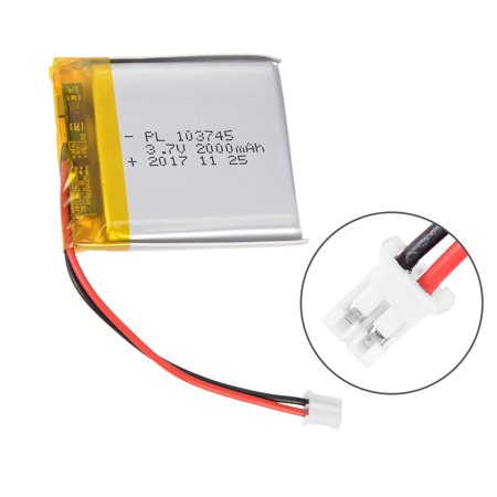 Power Supply DC 3.7V 2000mAh 103745 Rechargeable Lithium Polymer Li-Po Battery - image 3 de 5