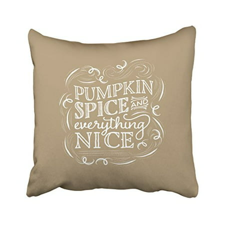 WinHome Pumpkin Spice Fall Halloween Decor Pillow Covers Cushion Cover Case 20x20 Inches Pillowcases Two Side](Outdoor Halloween Pillows)