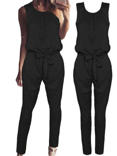 Womens Bandage Evening Party Playsuit Ladies Romper Long Jumpsuit Trousers Pants