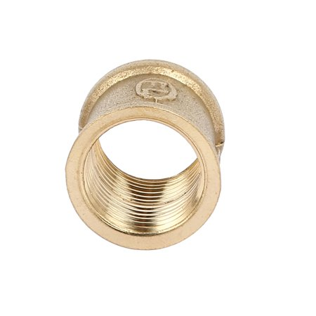 Unique Bargains1/2BSP Female Thread Brass Straight Tube Pipe Connecting Fittings Couplers 8pcs - image 2 of 3