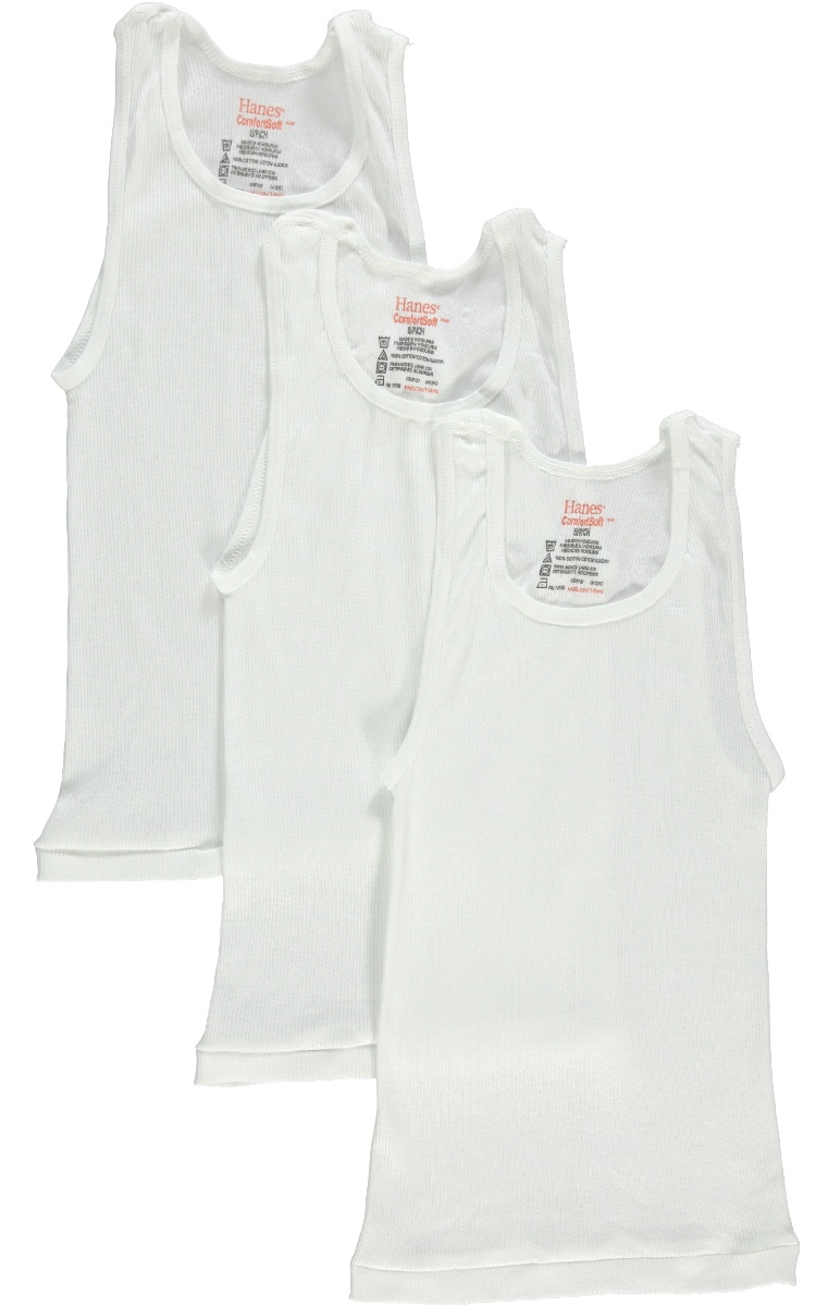 Hanes Boys Tagless ComfortSoft A-Shirt 6-Pack B372A6