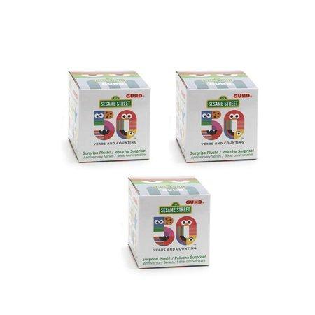GUND - Sesame Street - 50th Anniversary Blind Box - THREE RANDOM BOX BUNDLE