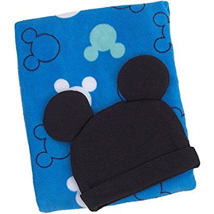 Disney Baby Mickey Mouse Blanket/Beanie Gift Set