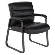 Bush Business Furniture Soft Sense Leather Guest Chair in Black