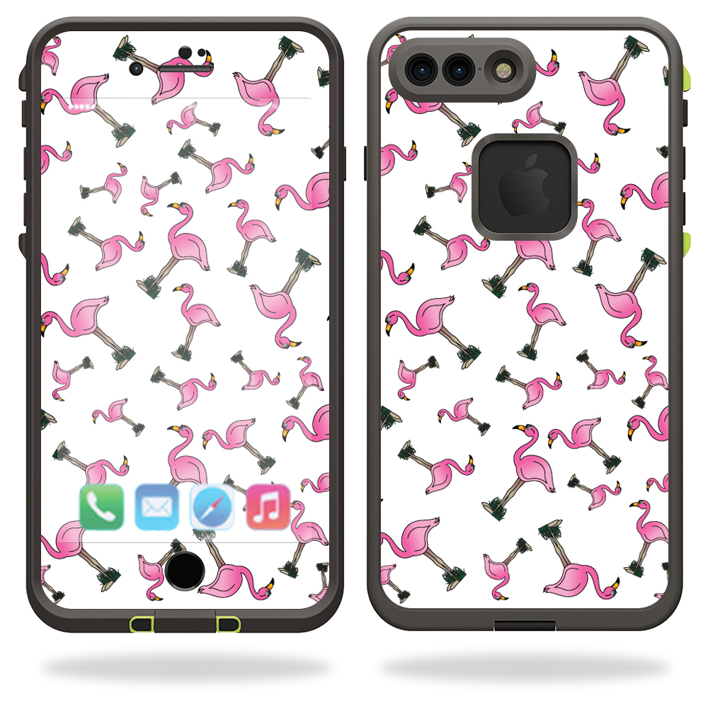 MightySkins Protective Vinyl Skin Decal for Lifeproof iPhone 7 Plus Case fre Case wrap cover sticker skins Cool Flamingo