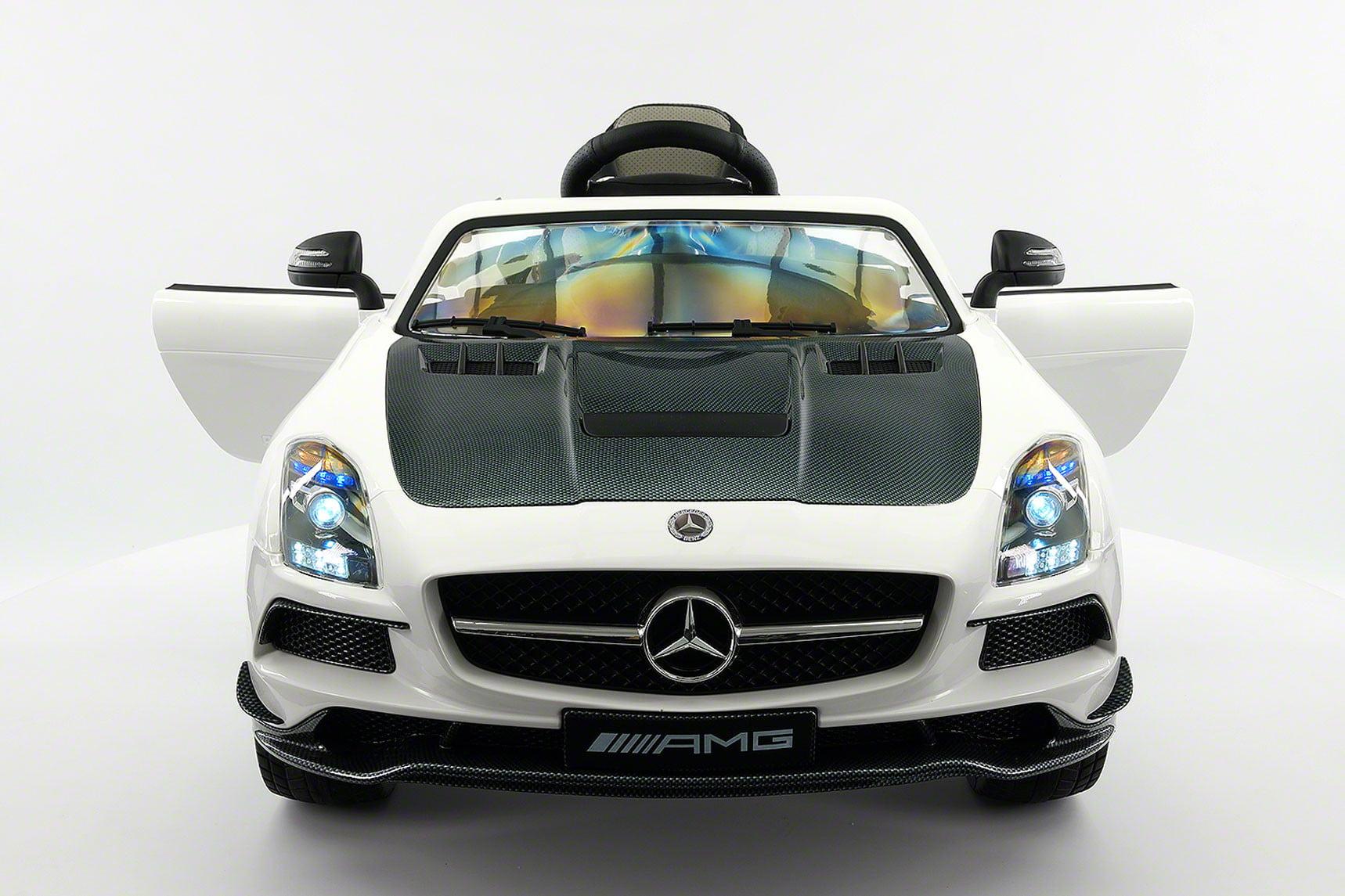 Ride-On Rutscher Mercedes Benz SLS AMG White Kinderrutscher Rutschfahrzeug Auto