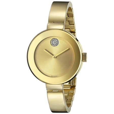 Bold Crystal & Goldtone IP Stainless Steel Bangle Bracelet Watch/34MM ()