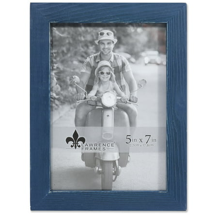 - 4x6 Charlotte Weathered Navy Blue Wood Picture Frame