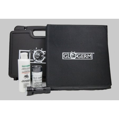 Glo Germ Kits (Glo Box Kit with Glo Germ Gel, Powder, 21 LED UV Flashlight & Folding Box )