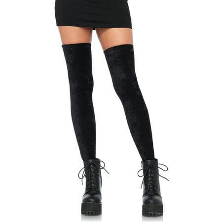 Crushed Velvet Cape (Leg Avenue Women's Crushed Velvet Thigh High, Black, O/S)
