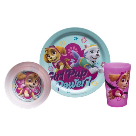 Zak! Designs Paw Patrol Skye & Everest Melamine Plates - Paw Patrol Plates And Cups