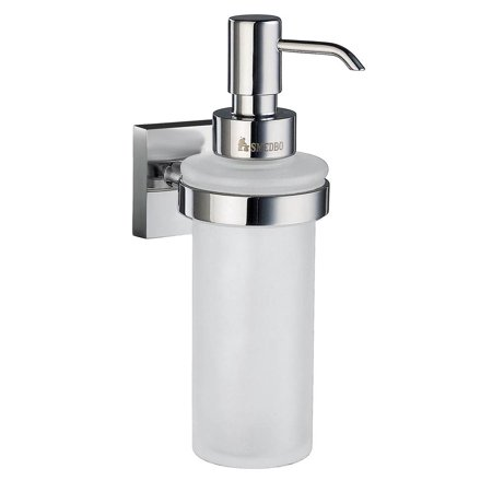 House Frosted Glass Soap Dispenser w Polished Chrome Hardware Smedbo Glass Polished Soap Dispenser