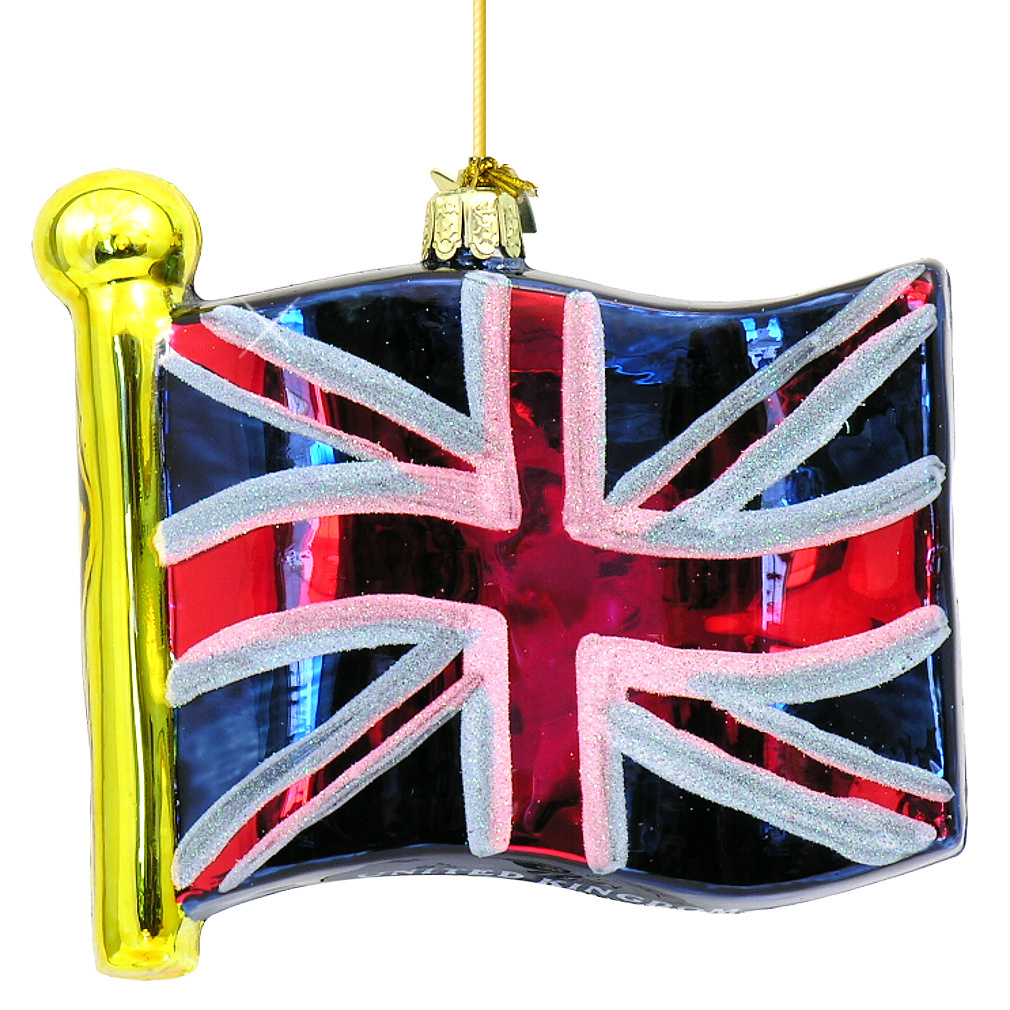 Kurt Adler Glass Flag Of United Kingdom Ornament