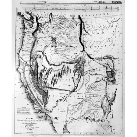 Map Western US 1848 Nmap Of The Western United States 1848 By Charles  Preuss Surveyor On John C FremontS Expeditions To The Rocky Mountains And  The ...
