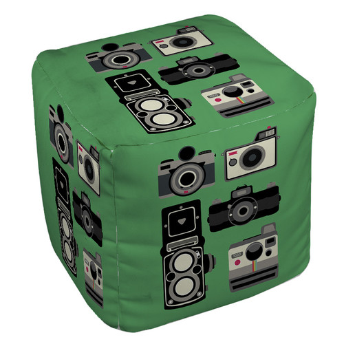 Manual Woodworkers & Weavers Cameras Pouf
