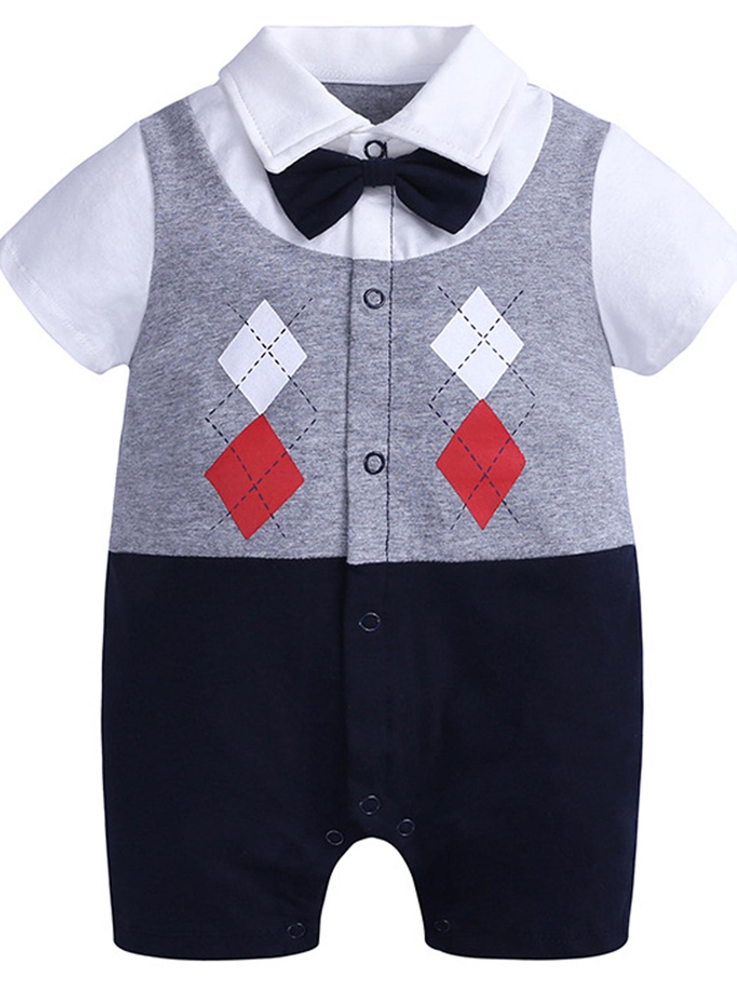 Lallc - Toddler Baby Boys Jumpsuits Short Sleeve Gentlemen Party Wedding  Kids Rompers - Walmart.com - Walmart.com