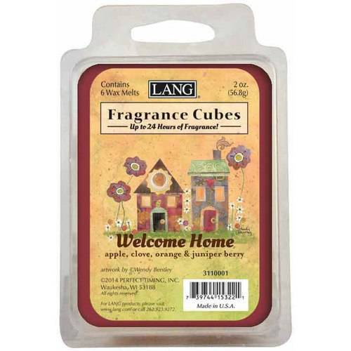 LANG Welcome Home 2-Ounce Fragrance Cubes Scented with Apple, Clove, Orange and Juniper Berry