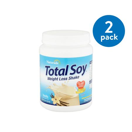 (2 Pack) Naturade Total Soy Vanilla Weight Loss Shake, 19.1