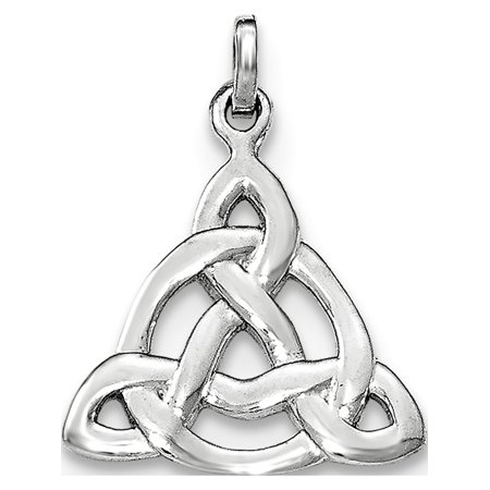 925 Sterling Silver Rhodium-plated Polished Celtic Symbol Pendant / Charm - image 2 of 2