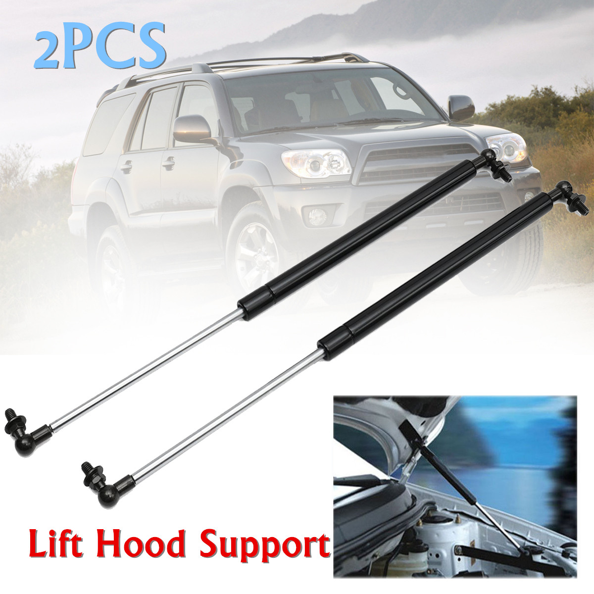 AUTOSAVER88 Front Hood Lift Supports Compatible with Toyota 4Runner 2003 2004 2005 2006 2007 2008 2009 for 2003-2009 Lexus GX470 Hood Struts Springs Shocks 2Pcs ATLS1811