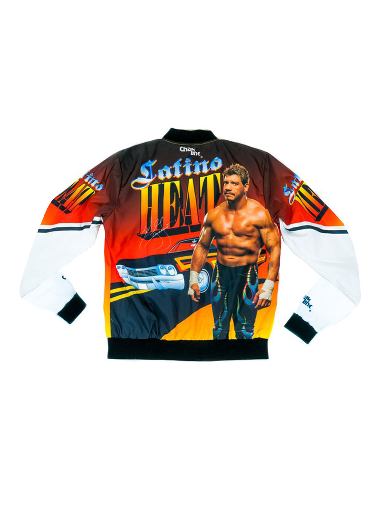 "Official WWE Authentic Eddie Guerrero ""Latino Heat"" Retro Fanimation Chalk Line Jacket by"