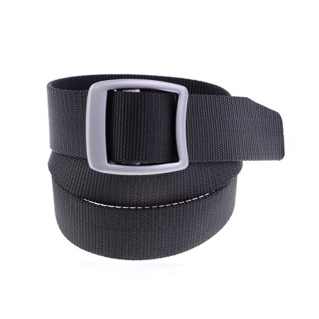NYFASHION101® Waterproof Nylon Ribbed Webbing Slide Buckle Duty Belt - BLK, S/M (Scratch Proof Belt)